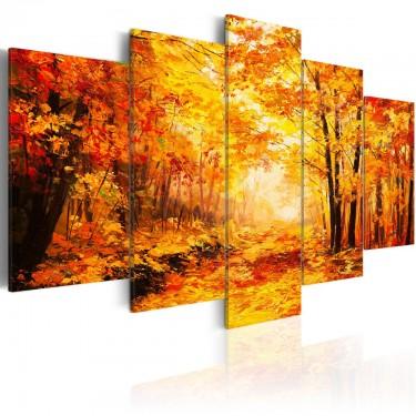 Obraz  Jesienna aleja