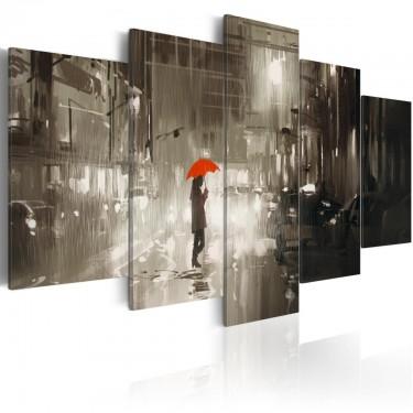Obraz  Deszczowe miasto