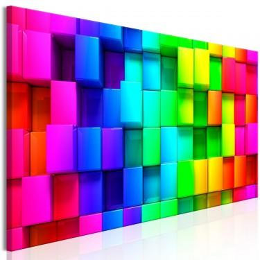 Obraz  Kolorowe sześciany (1częściowy) wąski