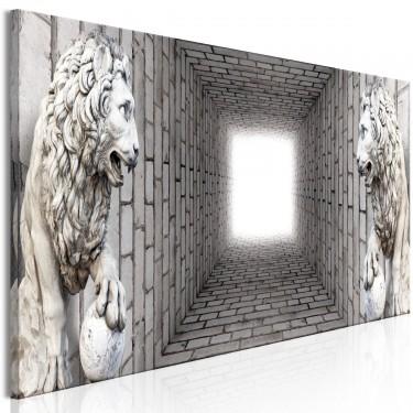 Obraz  Światło w tunelu (1częściowy) wąski