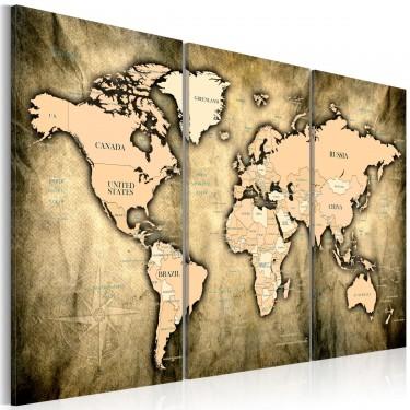 Obraz  Mapa świata Piaski czasu
