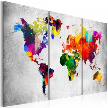 Obraz  Artystyczny świat  tryptyk