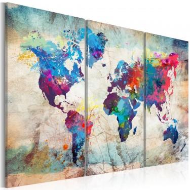 Obraz  Mapy świata Styl nowoczesny