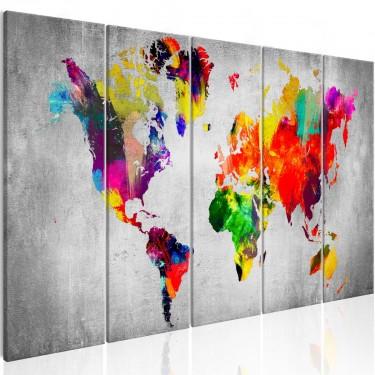 Obraz  Świat na betonie