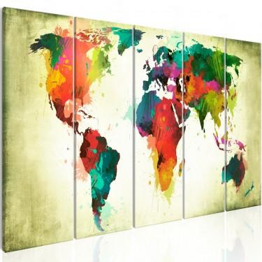 Obraz  Nietuzinkowa mapa świata