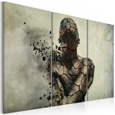 Obraz  The man of stone  triptych
