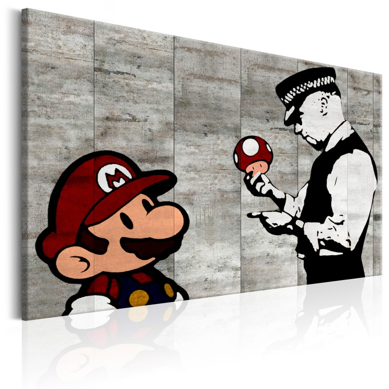 Obraz  Banksy na betonie