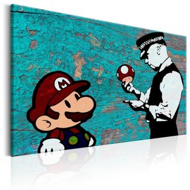 Obraz  Banksy na drewnie