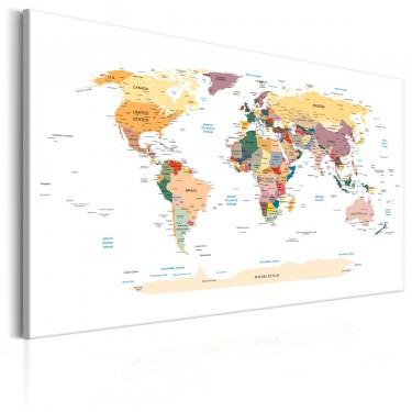 Obraz  Mapa świata Podróże przez świat