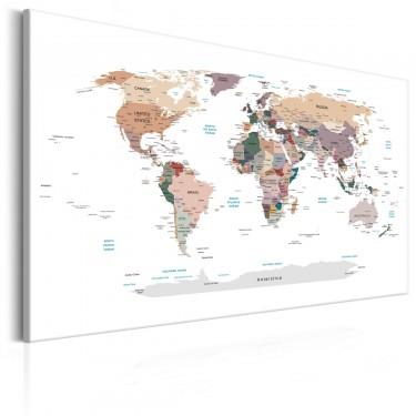 Obraz  Mapa świata Dokąd dziś?