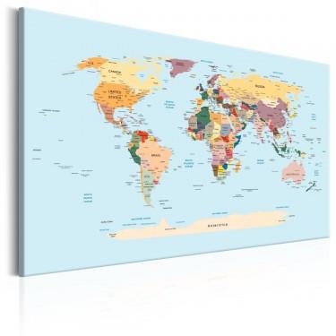 Obraz  Mapa świata Podróżuj ze mną