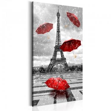 Obraz  Paryż Czerwone parasolki