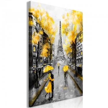 Obraz  Jesień w Paryżu (1częściowy) pionowy