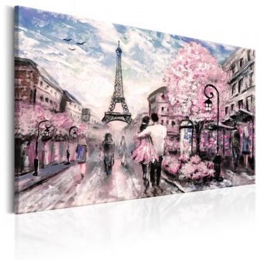 Obraz  Różowy Paryż