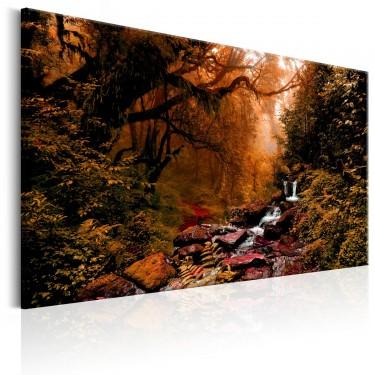 Obraz  Jesienny wodospad