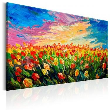 Obraz  Morze tulipanów