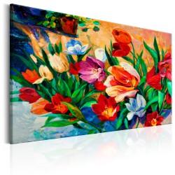 Obraz  Sztuka kolorów Tulipany