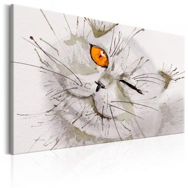 Obraz  Szary kot