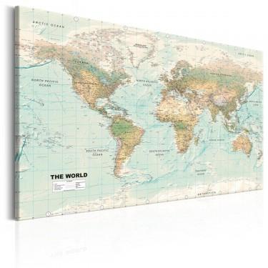 Obraz  Mapa świata Piękny świat
