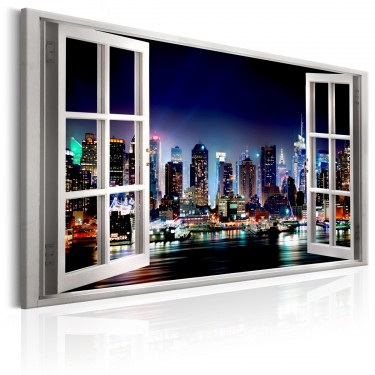 Obraz  Okno widok na Nowy Jork