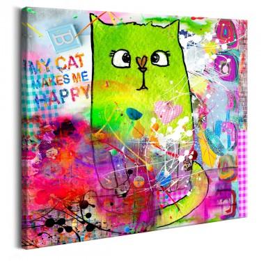 Obraz  Zwariowany kot