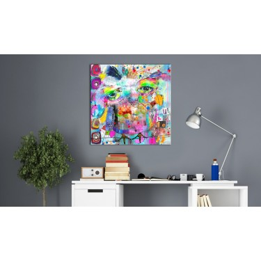 Obraz  Kolorowa sowa