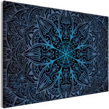 Obraz  Kwiaty orientu (1częściowy) szeroki niebieski