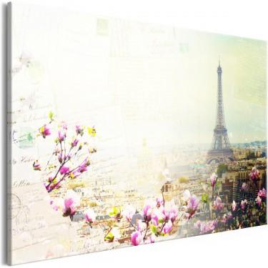 Obraz  Pocztówki z Paryża (1częściowy) szeroki
