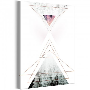 Obraz  Geometryczna abstrakcja (1częściowy) pionowy
