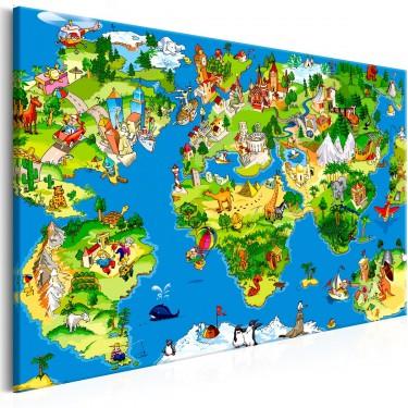 Obraz  Dziecięca mapa (1częściowy) szeroki
