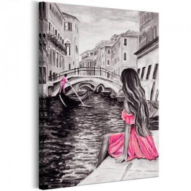 Obraz  Kobieta w Wenecji (1częściowy) pionowy