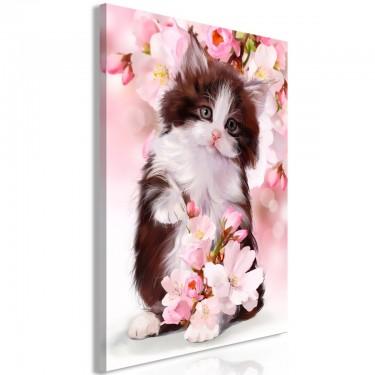 Obraz  Słodki kotek (1częściowy) pionowy