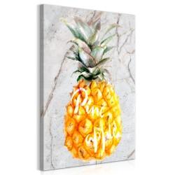 Obraz  Ananas i marmur (1częściowy) pionowy