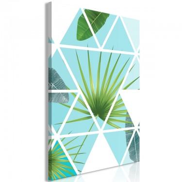 Obraz  Geometryczna palma (1częściowy) pionowy