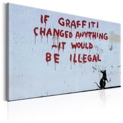 Obraz  If Graffiti Changed Anything by Banksy