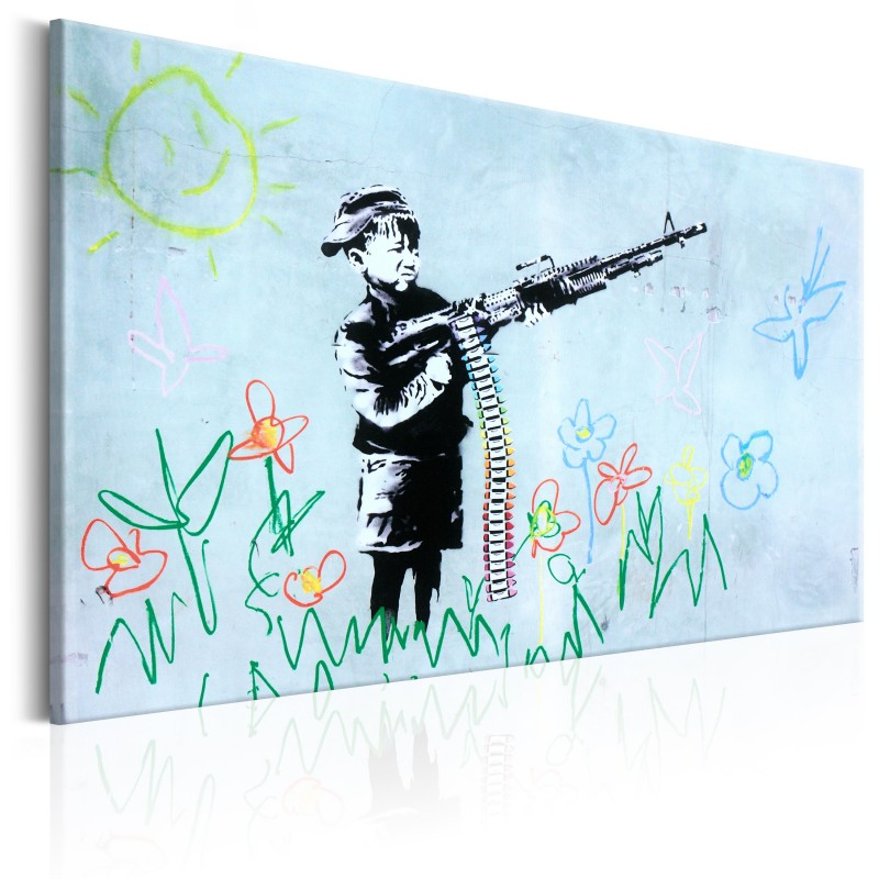 Obraz  Boy with Gun by Banksy
