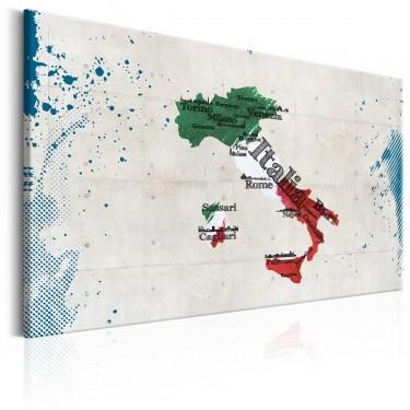 Obraz  Mapa Włochy