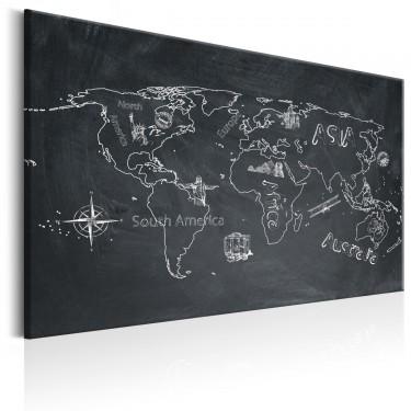 Obraz  Mapa świata Podróże kształcą