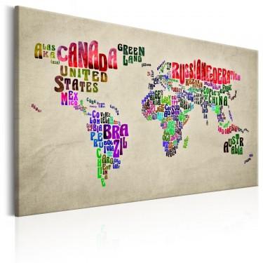 Obraz  Mapa świata Światowe tournée (EN)