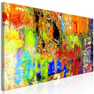 Obraz  Kolorowa abstrakcja (1częściowy) wąski