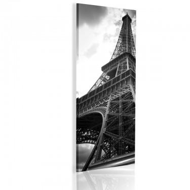 Obraz  Oniryczny Paryż czarnobiały