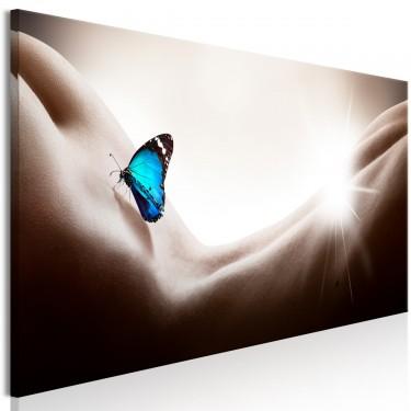 Obraz  Kobieta i motyl (1częściowy) wąski