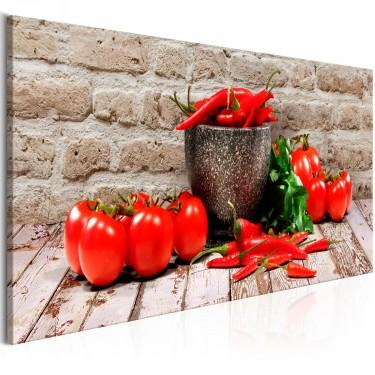 Obraz  Czerwone warzywa (1częściowy) cegła wąski