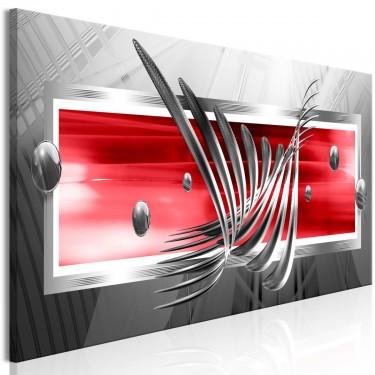 Obraz  Srebrne skrzydła (1częściowy) wąski czerwony