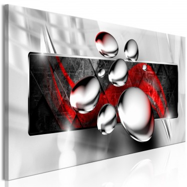 Obraz  Błyszczące kamienie (1częściowy) wąski czerwony