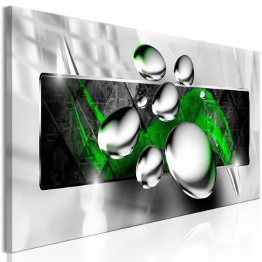 Obraz  Błyszczące kamienie (1częściowy) wąski zielony