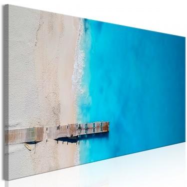 Obraz  Morze i pomost (1częściowy) wąski niebieski