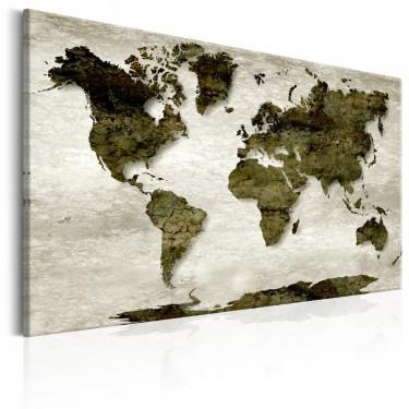 Obraz  Mapa świata Zielona planeta
