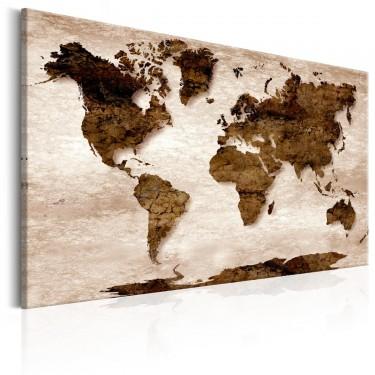 Obraz  Mapa świata Brązowa Ziemia