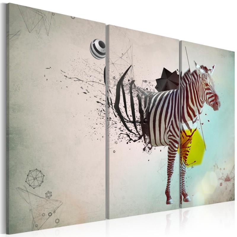 Obraz  zebra  abstrakcja